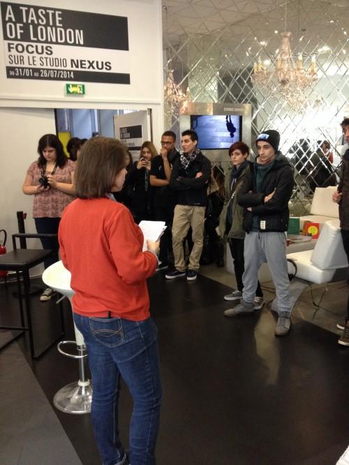 Visite de l'exposition Nexus, au Cube