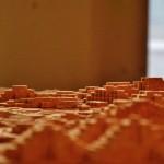 Maquette concours Pyramides - Salle d'exposition Préfigurations