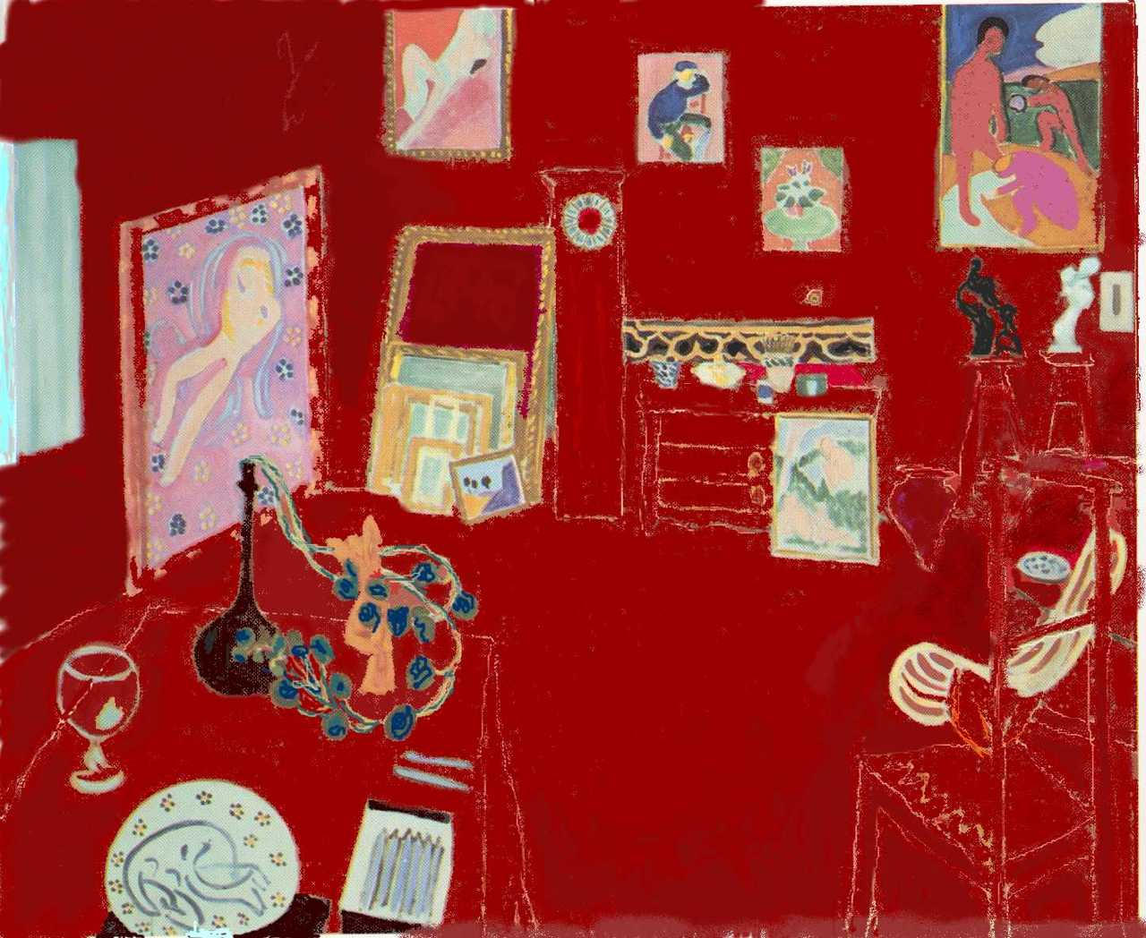 Henri matisse l atelier rouge association pr figurations for Interieur rouge matisse