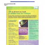 RDV de l'Ethique - Mars 2004