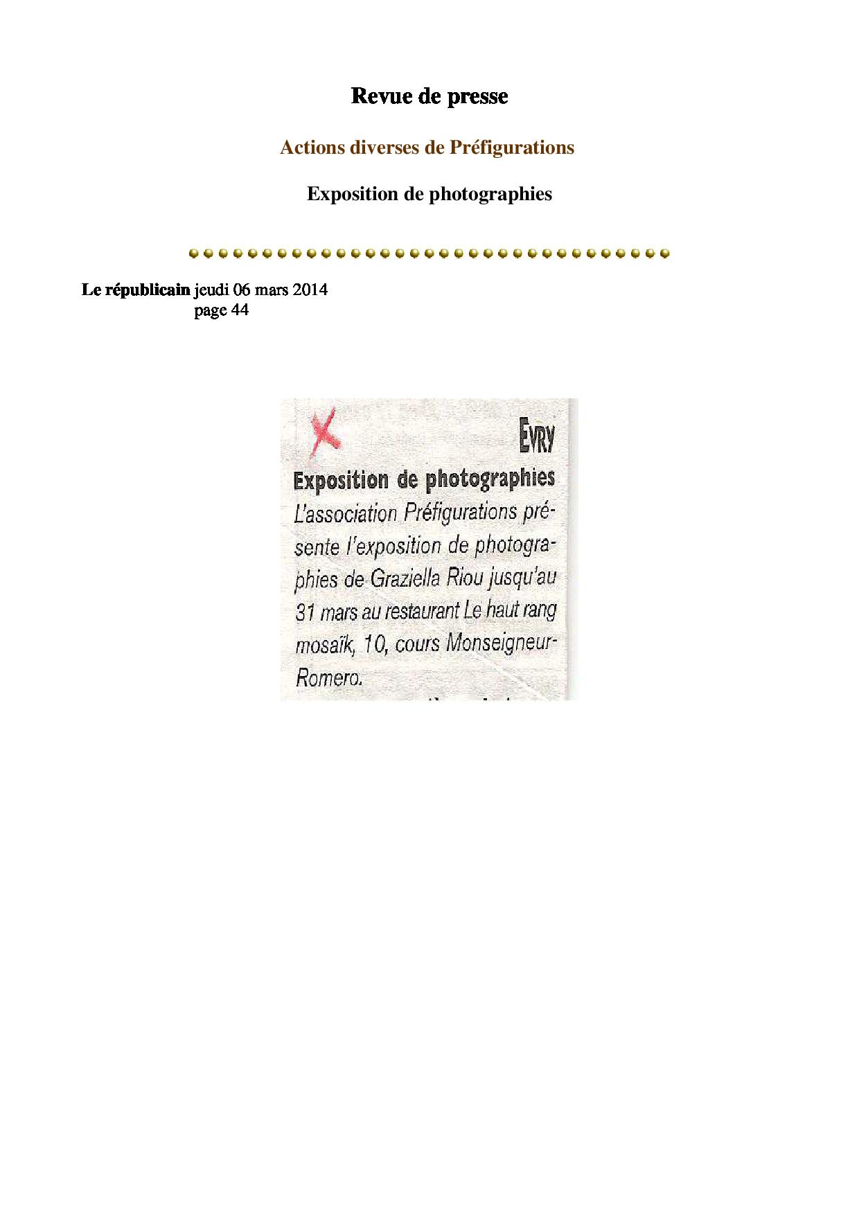 RP Le republicain 6 mars 2014 page 44 (Mon MDQ)