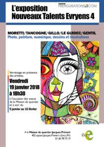 EXPO-RENCONTRE, Nouveaux talents evryens 4 ème – V 19 janvier 2018