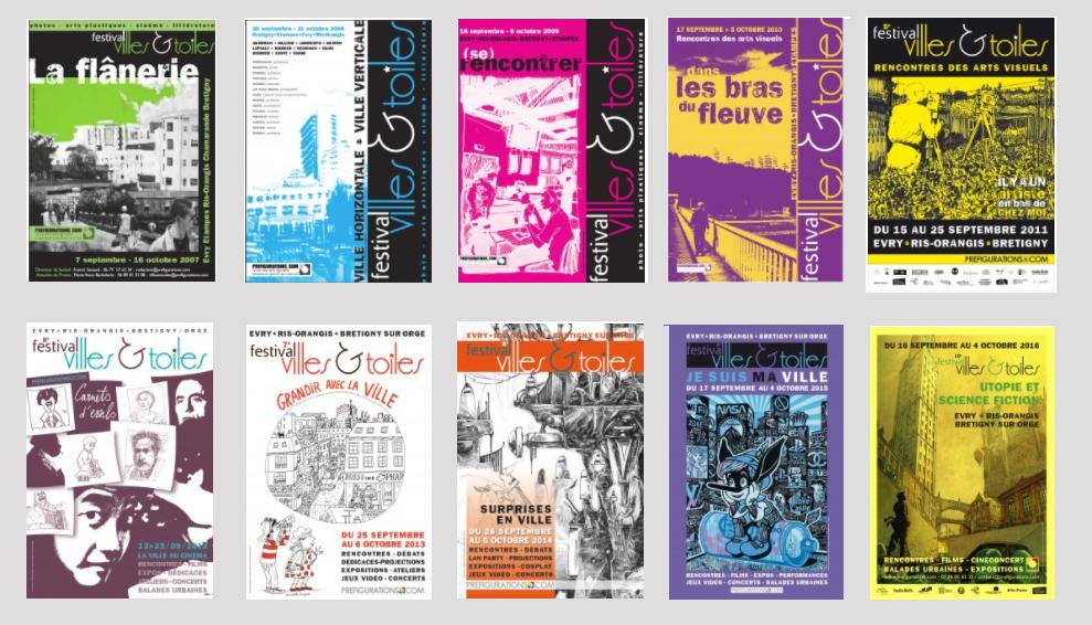 10 ans -affiches-festival villes et toiles