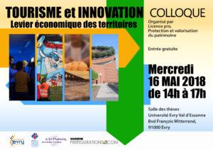 COLLOQUE : Tourisme et innovation, Mercredi 16 Mai 2018