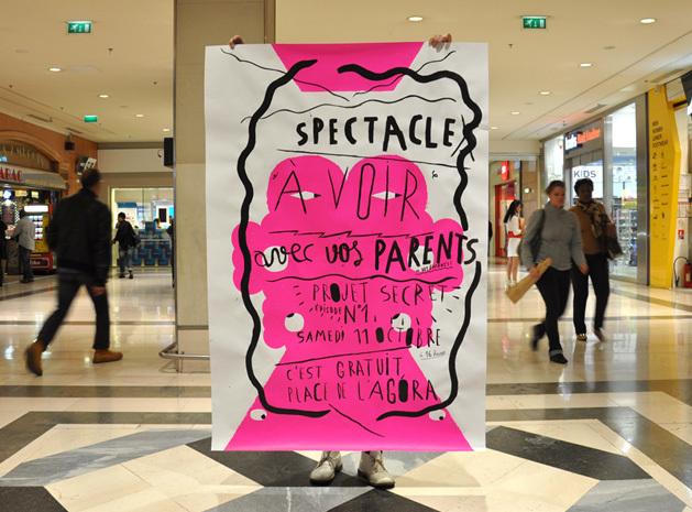 Expo et atelier affiches avec les graphistes