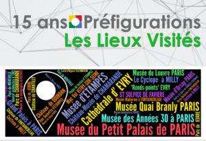 15 ans Préfigurations : Les lieux visités