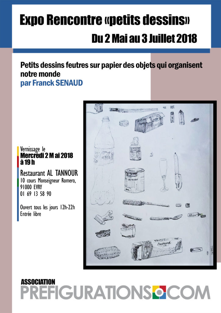 EXPO-RENCONTRE «Petits objets », F. SENAUD, Mer 2 mai 2018