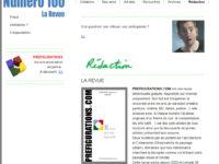 Juillet-Août – Revue Préfigurations, numéro 100 !