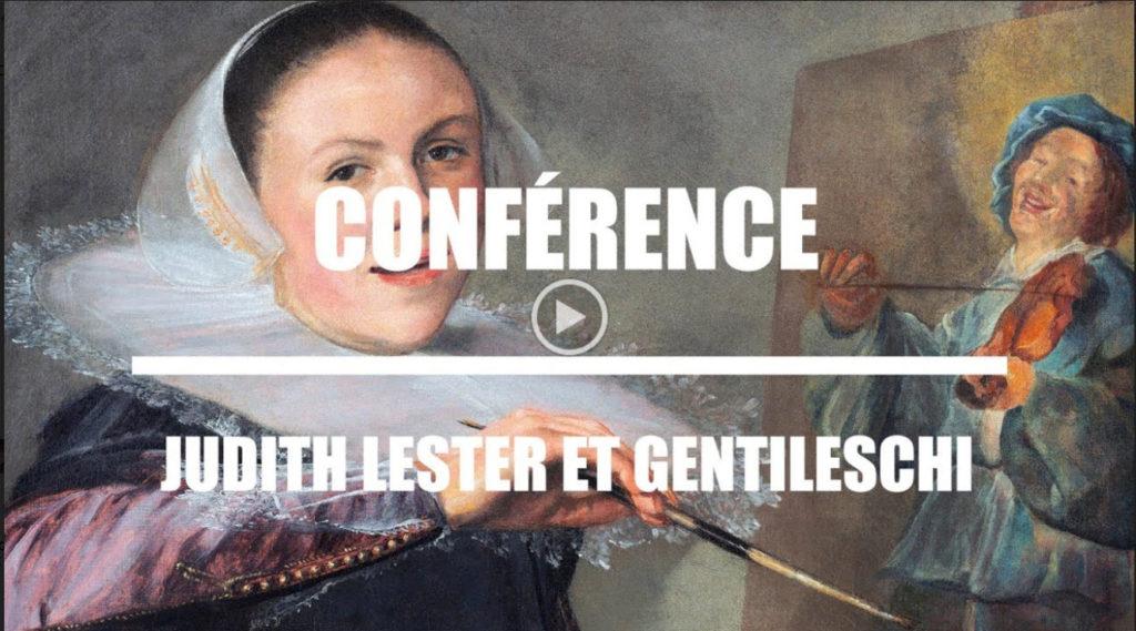 Vidéo Histoire de l'art : Conférence Judith Leyster et Gentileschi