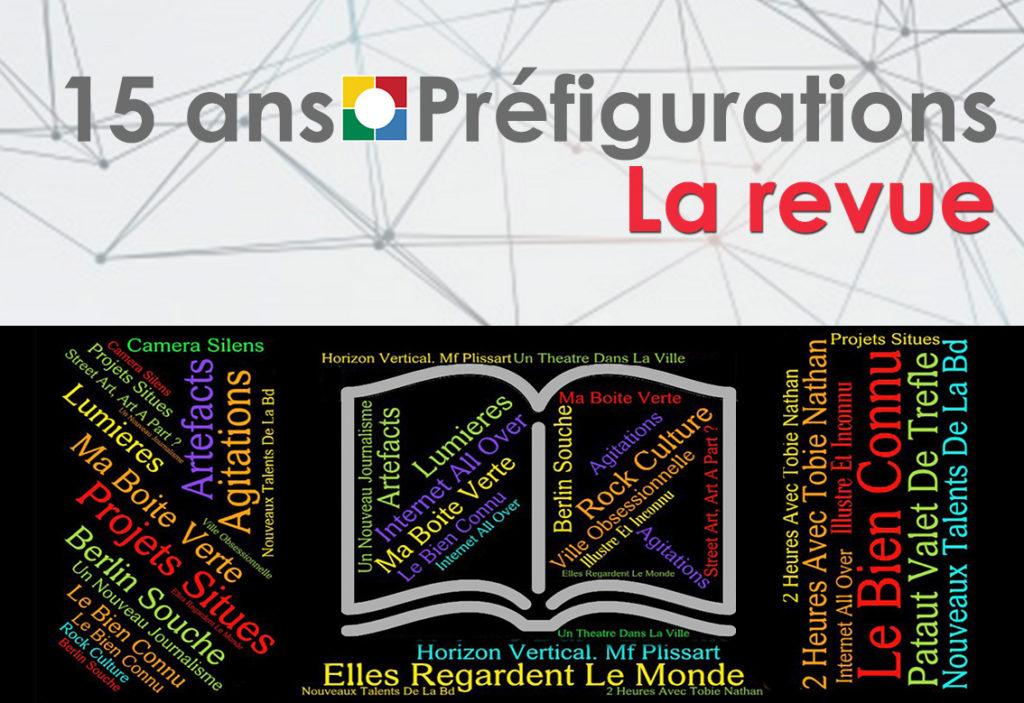 Nuage de mots 15 ans : Préfigurations, 100 numéros pour la revue