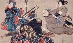 katsushika_oi_-_three_women_playing_musical_instruments