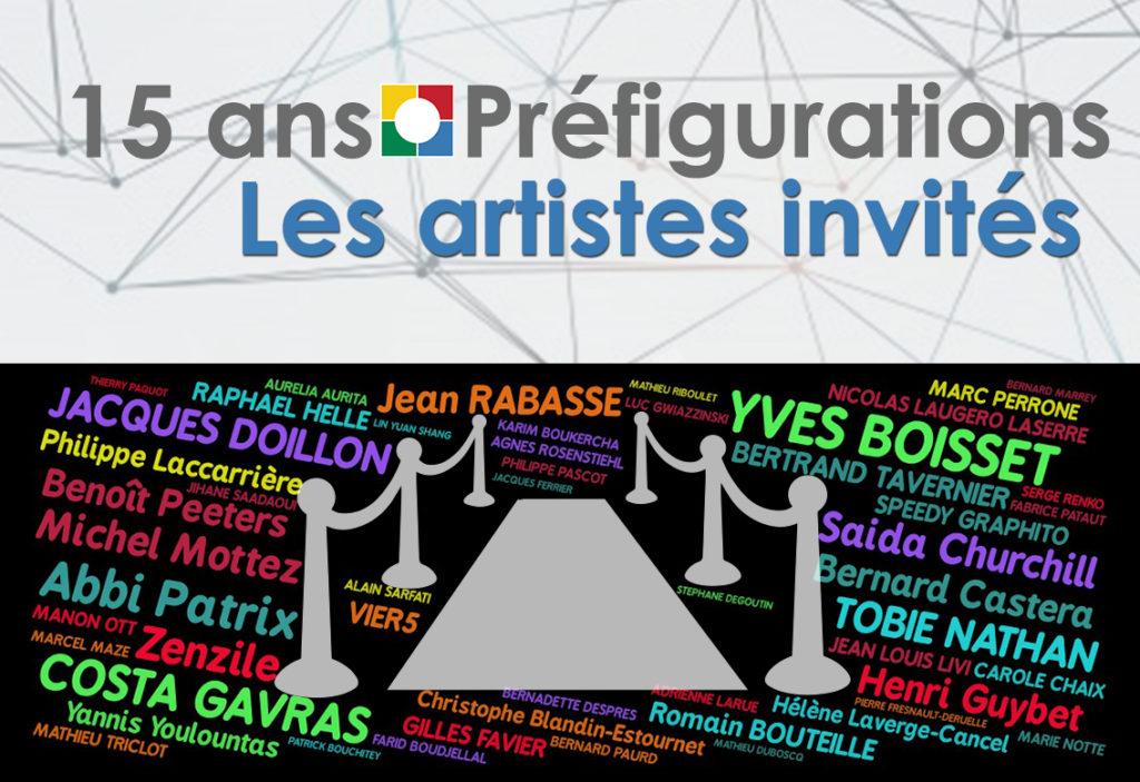 NUAGE DE MOTS, 15 ans Préfigurations : Les artistes invités