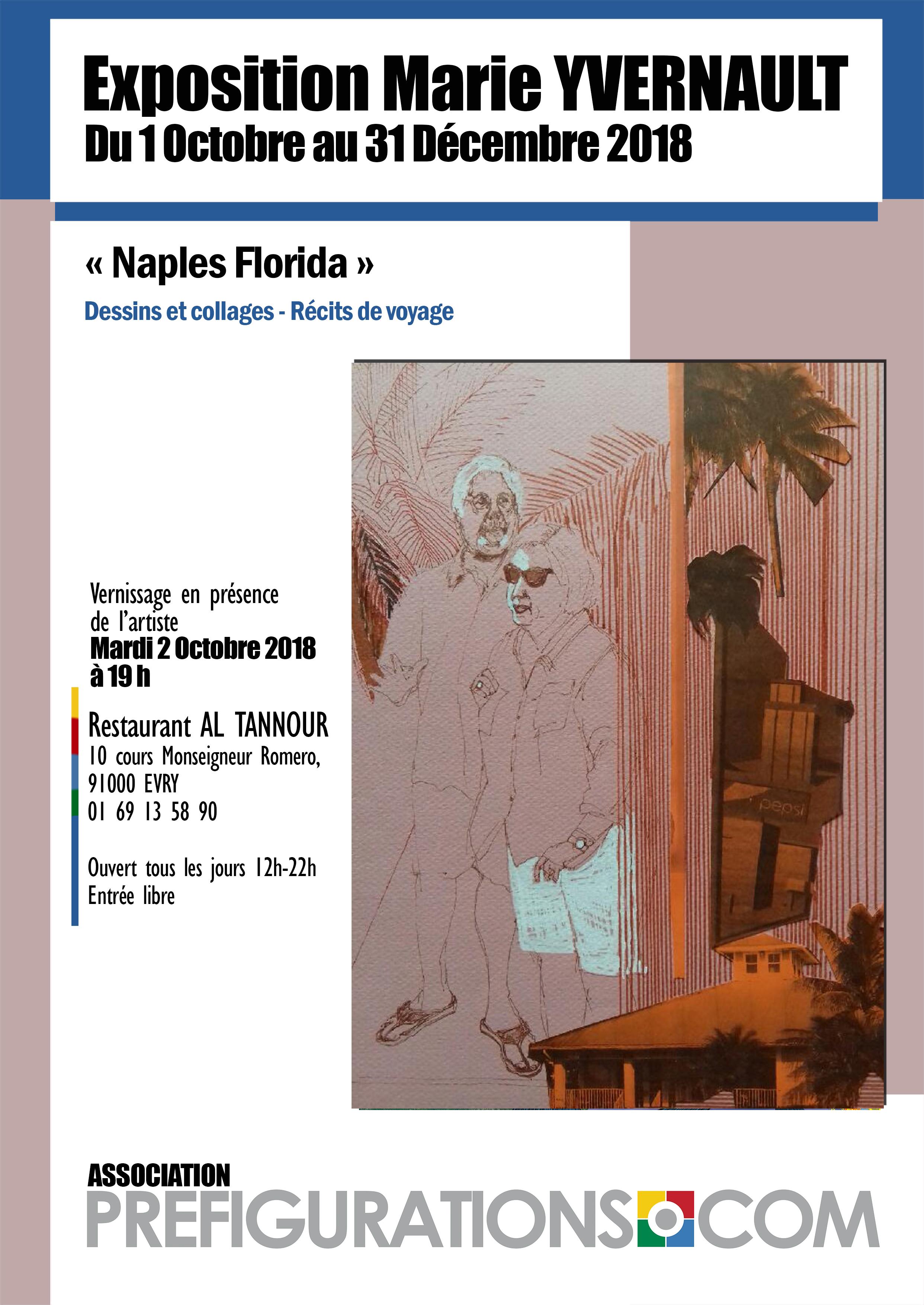 "EXPO-RENCONTRE ""Naples, Florida"" – Marie YVERNAULT @ Galerie Annapurna – Restaurant Annapurna"