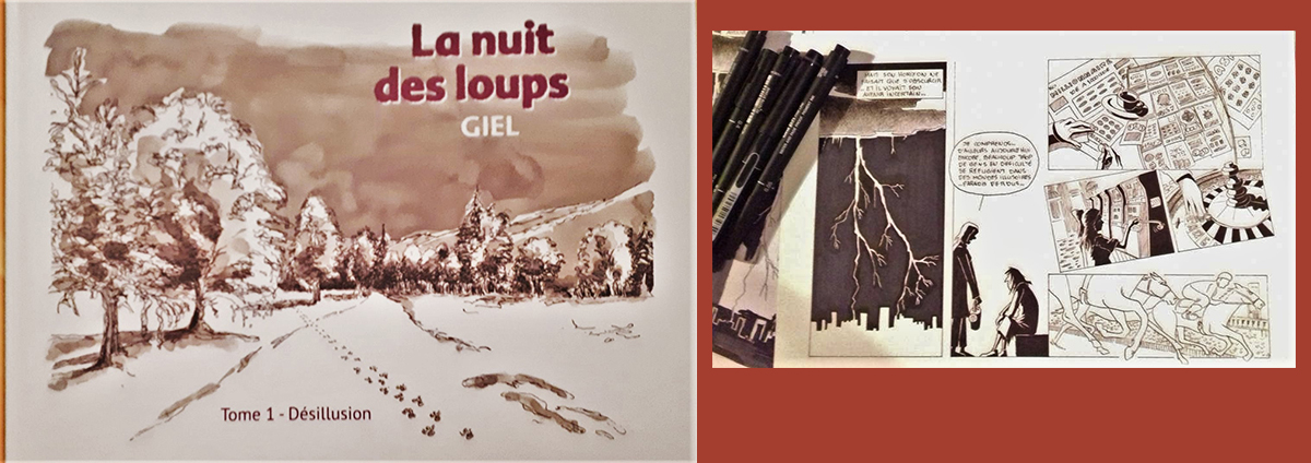 """EXPO-RENCONTRE et Dédicace : BD """"La nuit des loups"""" par GIEL"""