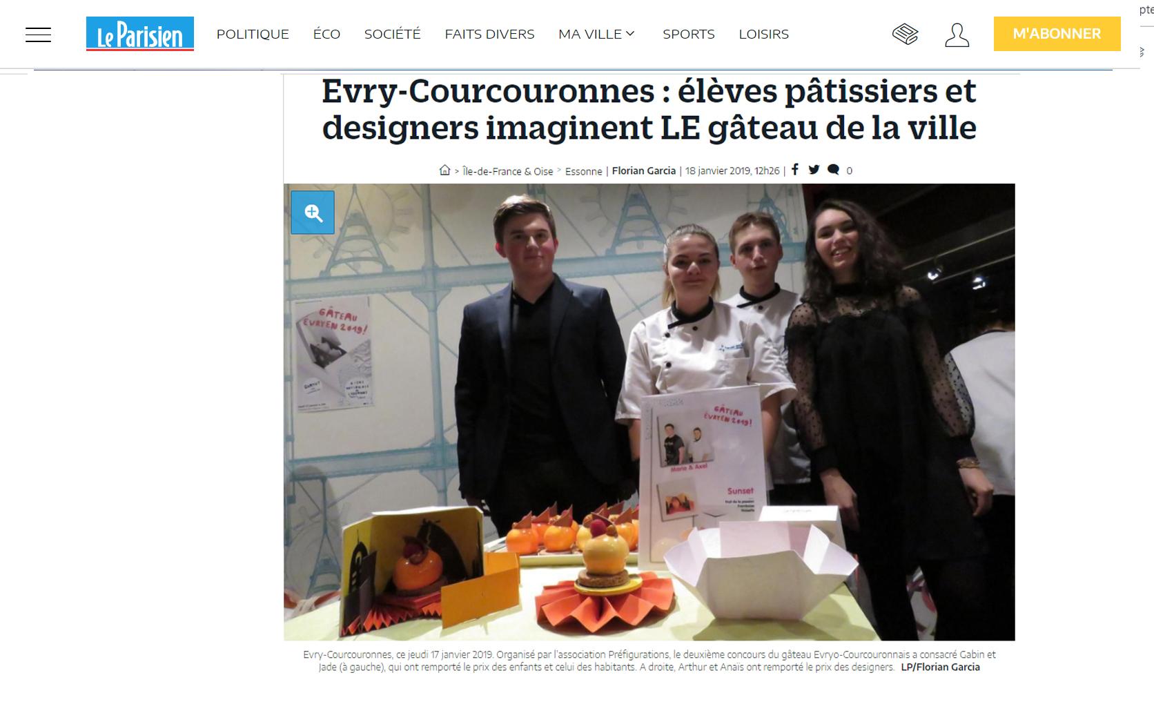 le-parisien-du 18janvier2019-gateau-evry