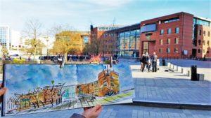 VIE DE L'ASSO : Urban Sketchers Essonne – Croquis à la  cathédrale d'Evry