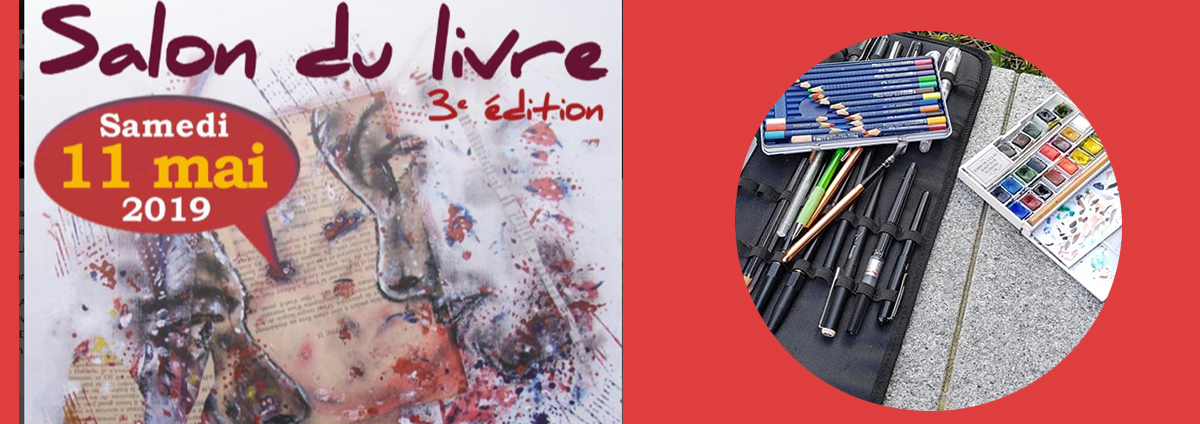 """SORTIE CROQUIS Urban Sketchers : """"Salon du livre"""""""