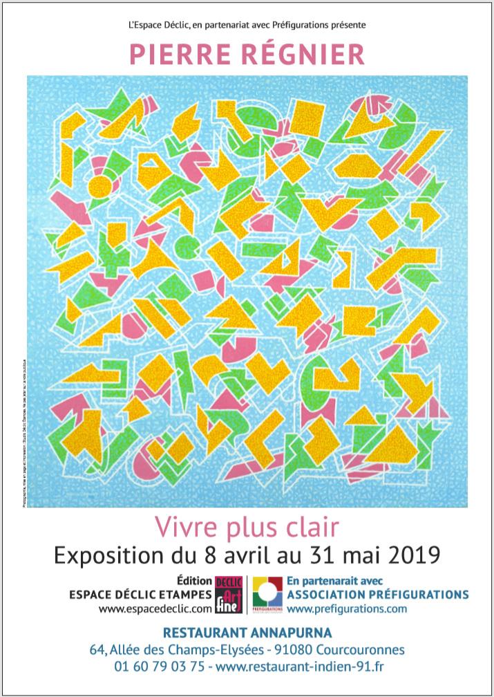 EXPO-Peinture abstraite : Pierre REGNIER par Espace Déclic @ Galerie Annapurna – Restaurant Annapurna