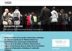VIE DE L'ASSO : 5 interventions PHILO au lycée, Eloqu'en scène