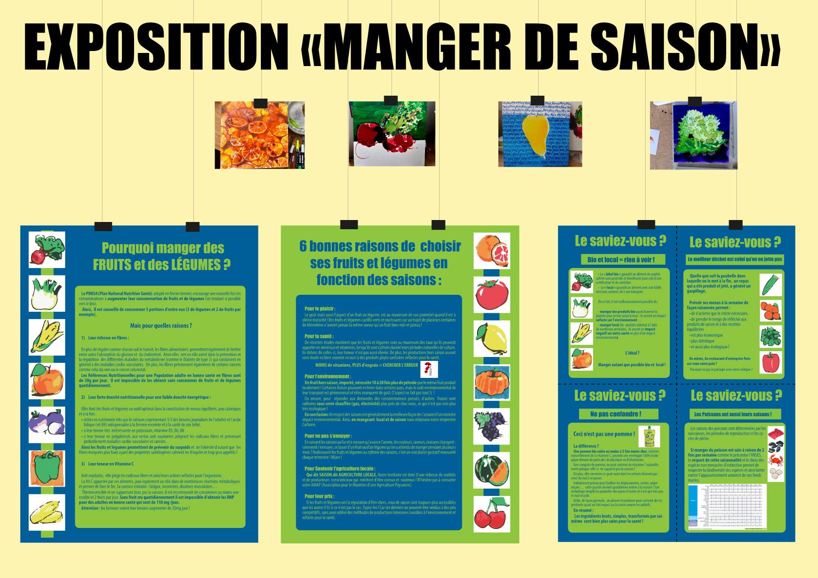 """EXPOSITION """"Manger de saison"""" @ BIBLIOTHÈQUE Universitaire d'Evry"""
