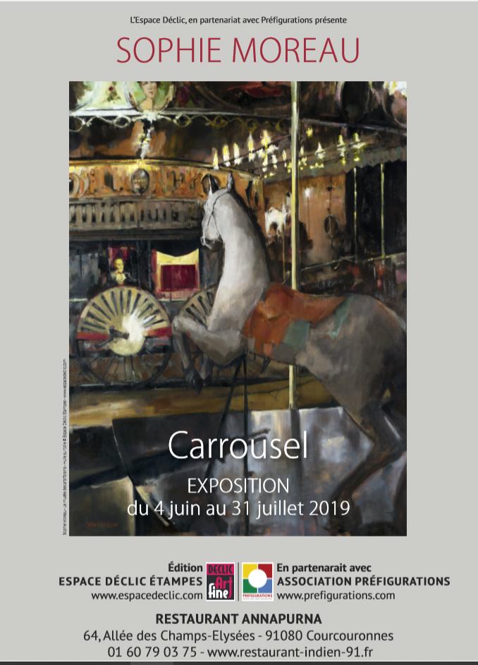 "EXPO-RENCONTRE ""Carrousel"" Sophie MOREAU, Mardi 4 Juin 2019 @ Galerie Annapurna – Restaurant Annapurna"