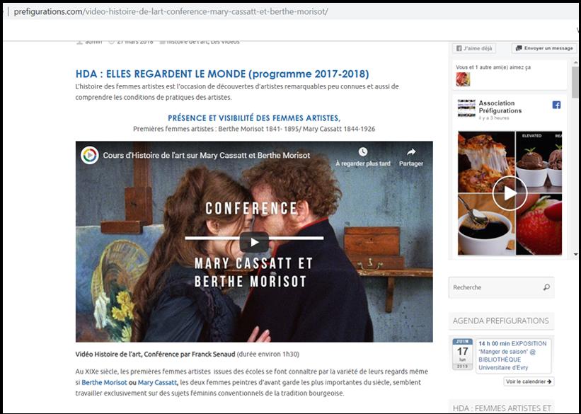 VIE DE L'ASSO :  Juin 2019, FRANCE CULTURE prend une vidéo HDA de Préfigurations pour référence !