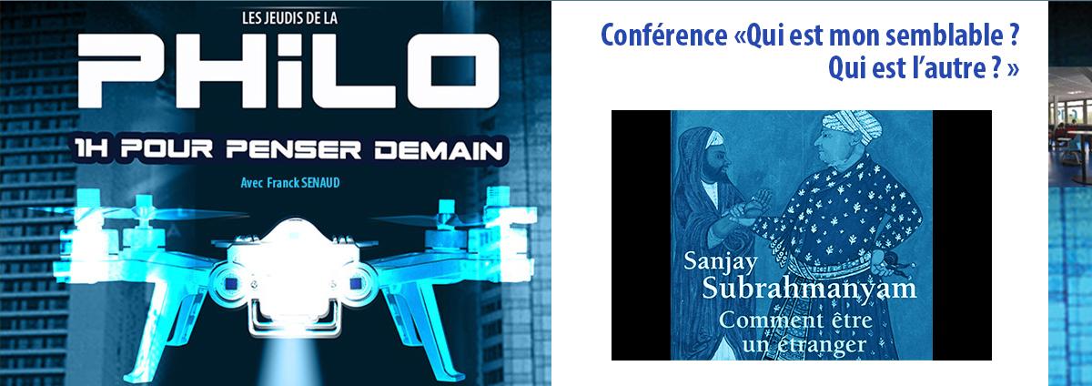 PHILO Conférence : «Qui est mon semblable ? Qui est l'autre ? », Jeudi 19 Décembre 2019