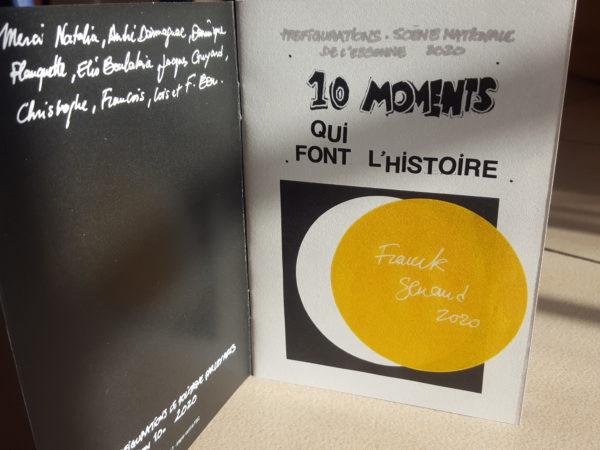 "EXPO-finissage "" Livre 10 moments qui font l'histoire "", mardi 31 mars 2020"