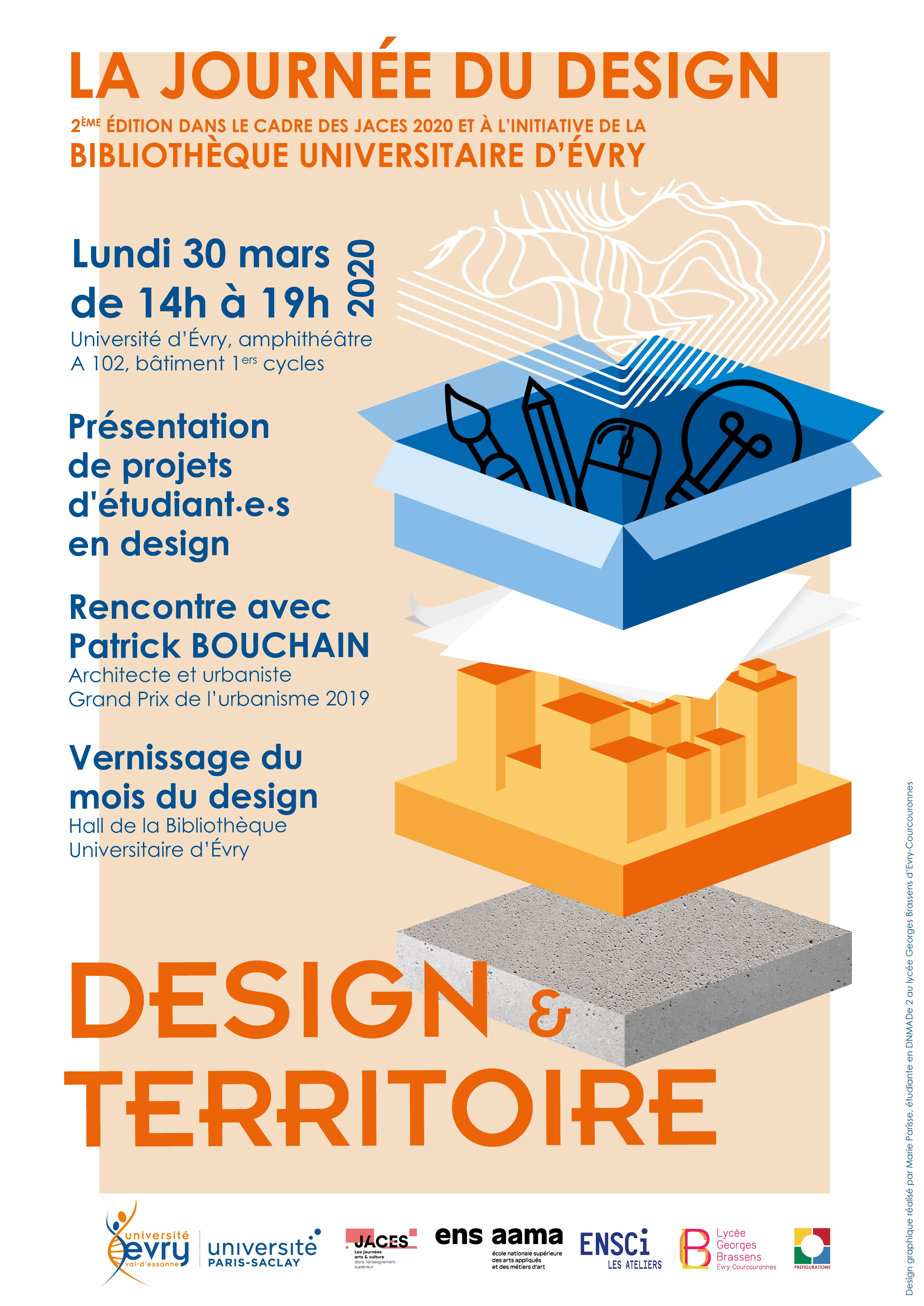 affiche journée du design 2020 université d'Evry