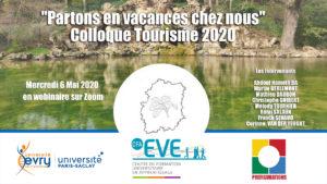 VIDÉO : COLLOQUE SLOW TOURISME 2020, du 6 mai, avec l'Université EVRY-Paris-Saclay