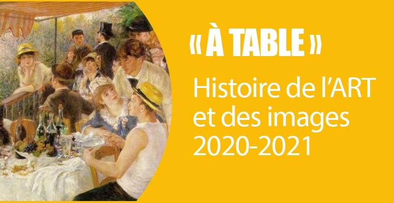 RENTRÉE : Programme HDA 2020-2021, «À TABLE»