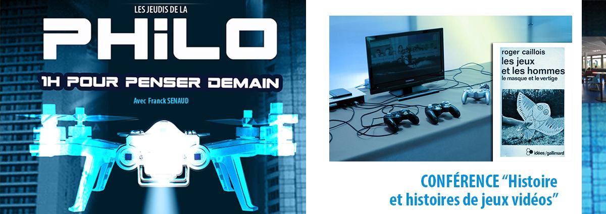 """Conférence PHILO/HDI : En ligne""""Histoire et histoires de jeux vidéos"""","""