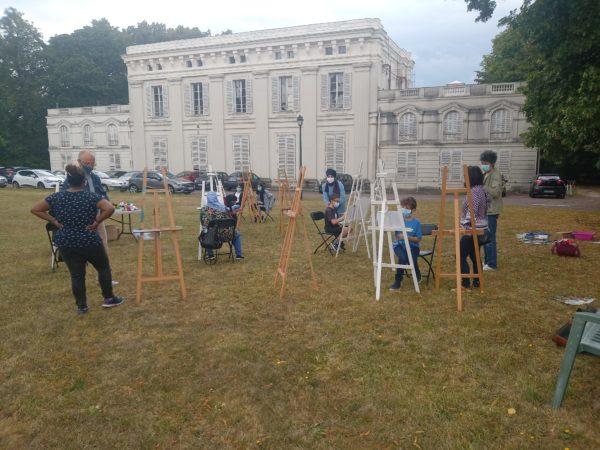 VIE DE L'ASSO : Sortie Peinture EVRYBOX au château de Beauvoir