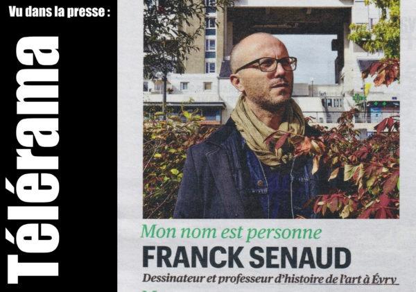 VIE DE L'ASSO : Franck Senaud dans le supplément Sortir de Télérama !