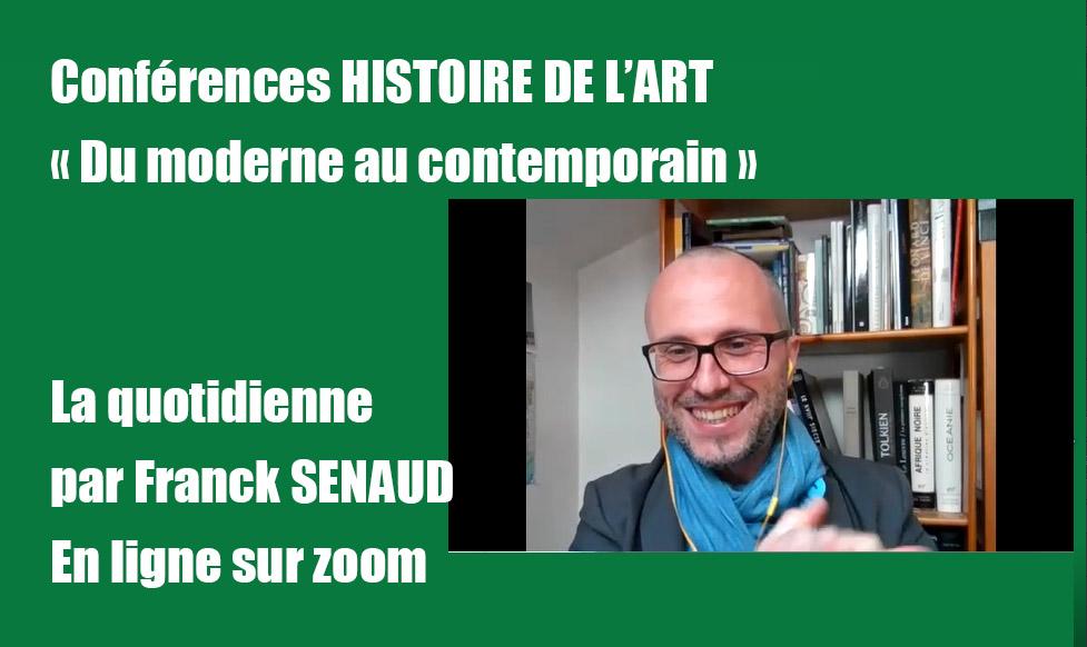 La quotidienne Histoire de l'art : DU MODERNE AU CONTEMPORAIN, à partir du lundi 2 nov. 2020