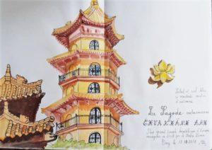 VIE DE L'ASSO : USK  les croquis de La pagode Evry