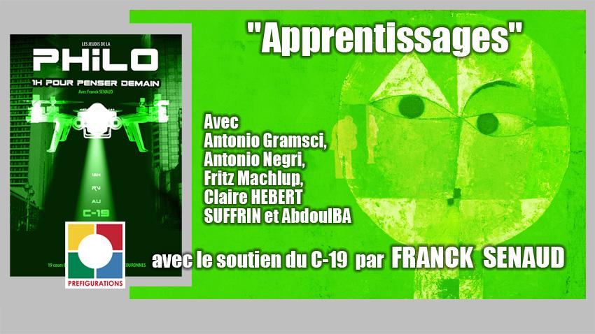 """Conférence PHILO / HDI """"Apprentissages"""", Jeudi 20 mai 2021"""