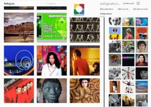 VIE DE L'ASSO : Instagram Préfigurations, 1 an et 280 posts plus tard.